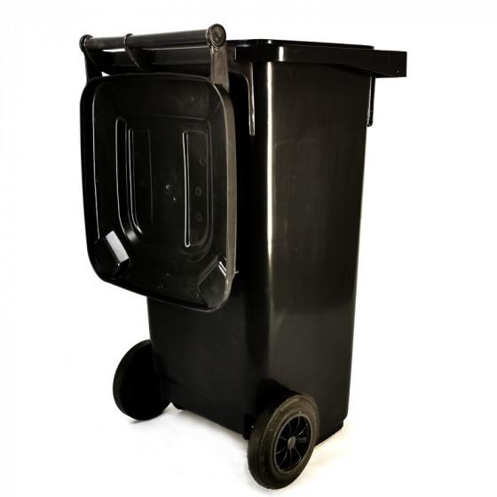 Háztartási kuka 120L-es, kerekes, műanyag, szürke - [TM]