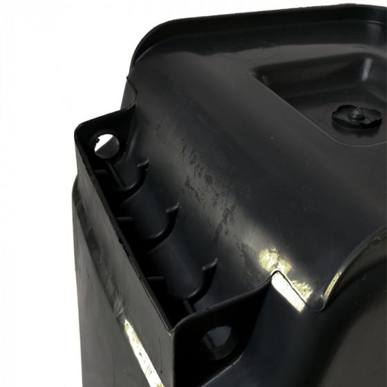 Háztartási kuka 120L-es, kerekes, műanyag, szürke