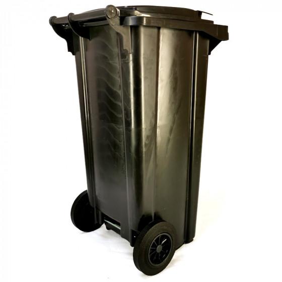 Háztartási kuka 120L-es, szürke, kerekes, műanyag, premium - [TM]