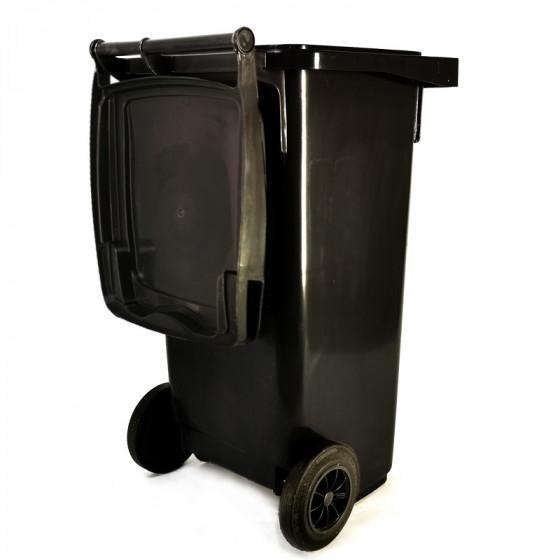 Háztartási kuka 120L-es, szürke, kerekes, műanyag, standard - [TM]