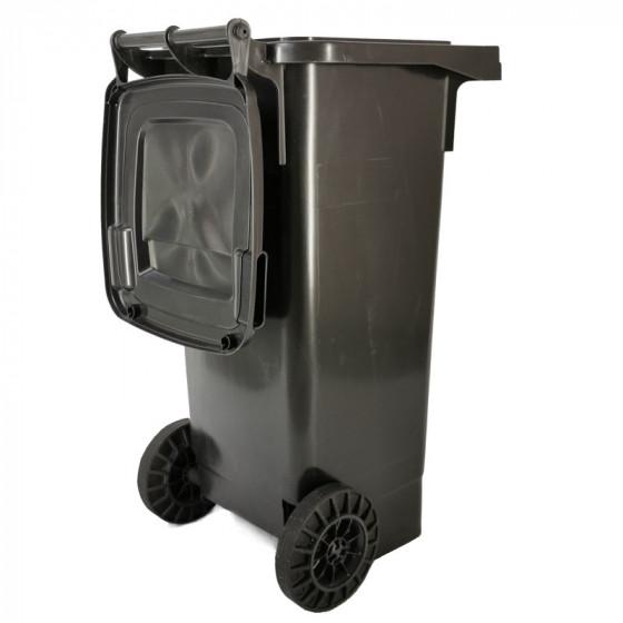 Háztartási kuka 80L-es, szürke, kerekes, műanyag - [TM]