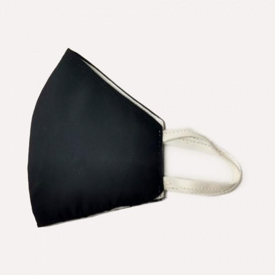 Mosható kétrétegű fekete fehér belsővel, textil szájmaszk (női méretben) feliratozható
