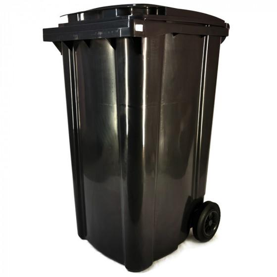 Háztartási kuka 240L-es, kerekes, antracit szürke, műanyag, premium - [TM] - [NGK]