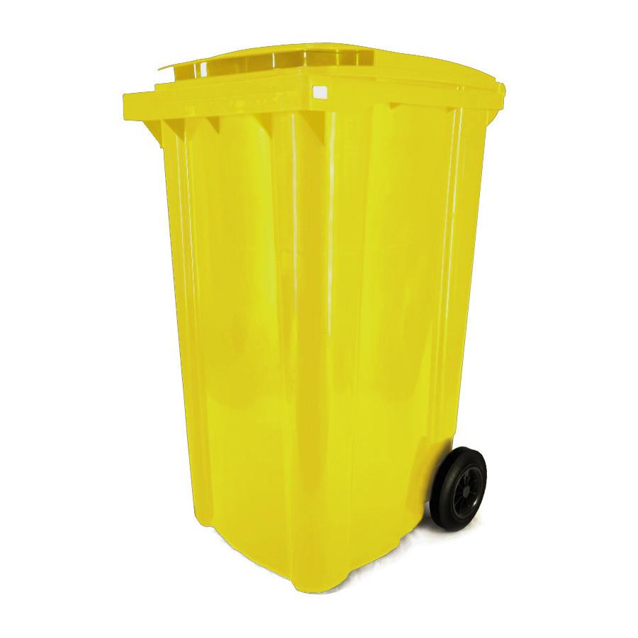 Háztartási kuka 240L-es, sárga, kerekes, műanyag - [TM] - [NGK]