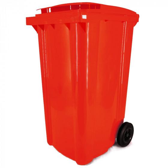 Háztartási kuka 240L-es, piros, kerekes, műanyag - [TM] - [NGK]