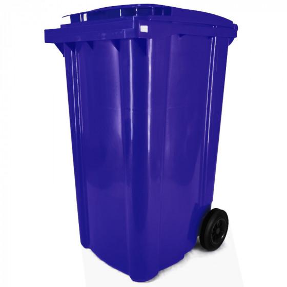 Háztartási kuka 240L-es, kék, kerekes, műanyag - [TM] - [NGK]