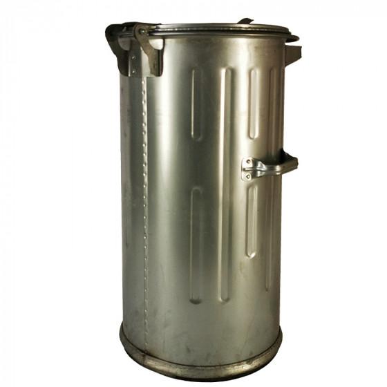 Háztartási kuka, 110L-es, fém, horganyzott (Zn) - [TM]