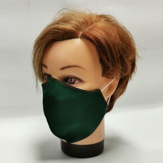 Mosható postás zöld, textil szájmaszk, feliratozható