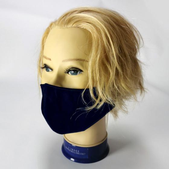 Mosható rendőr kék, textil szájmaszk, feliratozható