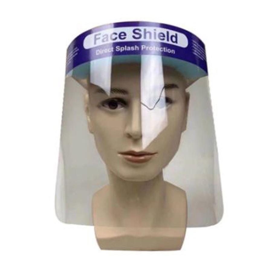 Egész arcot védő, arcvédő plexi, víztiszta, fix