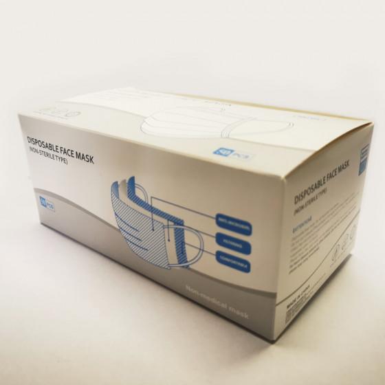 Orvosi (nem steril) 3 rétegű gumis maszk