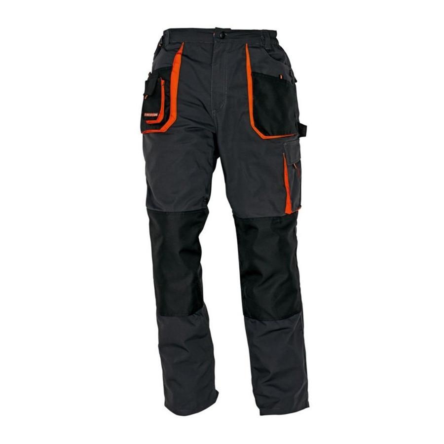 EMERTON szürke-fekete-narancssárga derekas nadrág