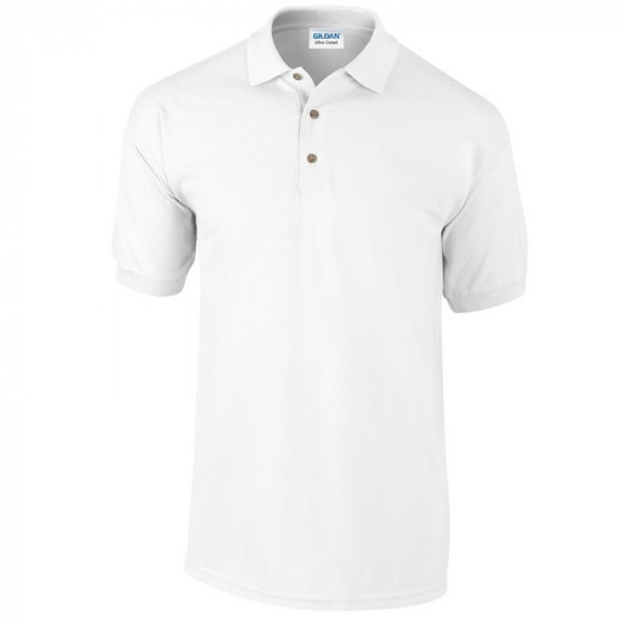 GI3800 ULTRA COTTON™ ADULT PIQUE POLO SHIRT GALLÉROS PÓLÓ FEHÉR