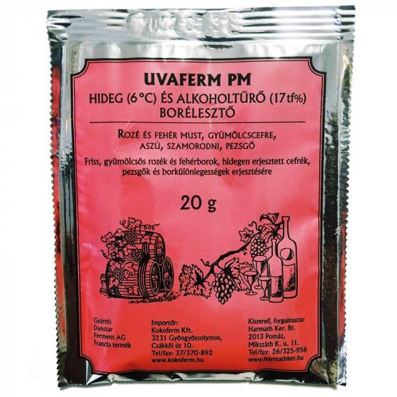 UVAFERM PM hideg- és alkoholtűrő borélesztő 20 g