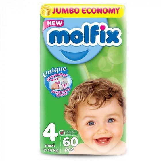 MOLFIX Jumbo Maxi pelenka (4-as méret) 60 db-os