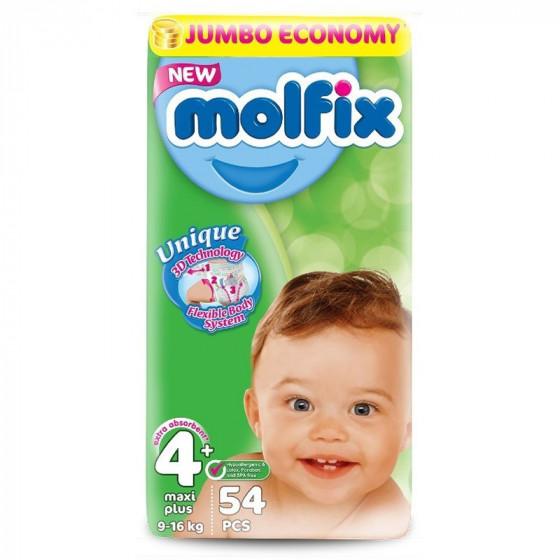 MOLFIX Jumbo Maxi pelenka (4+ -os méret) 54 db-os