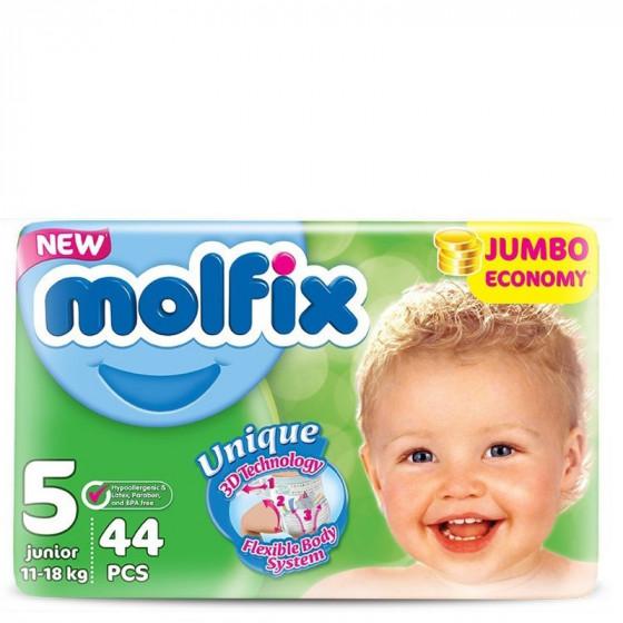 MOLFIX Jumbo Junior pelenka (5-ös méret) 44 db-os
