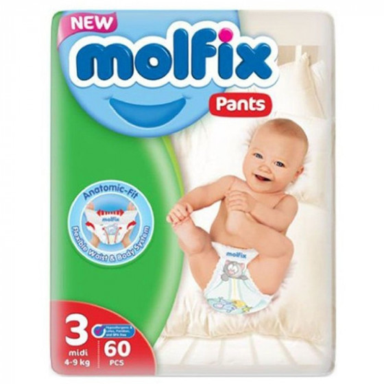 MOLFIX Pants Midi bugyipelenka (3-as méret) 60 db-os