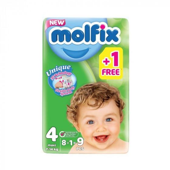 MOLFIX Jumbo Maxi pelenka (4-ös méret) 8+1 db-os /PRÓBACSOMAG/