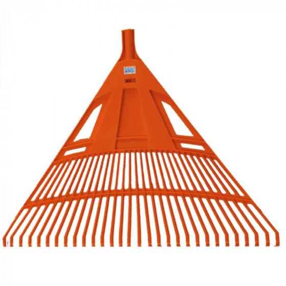 Lombseprű műanyag, 75 cm egyenes narancssárga - MUTA