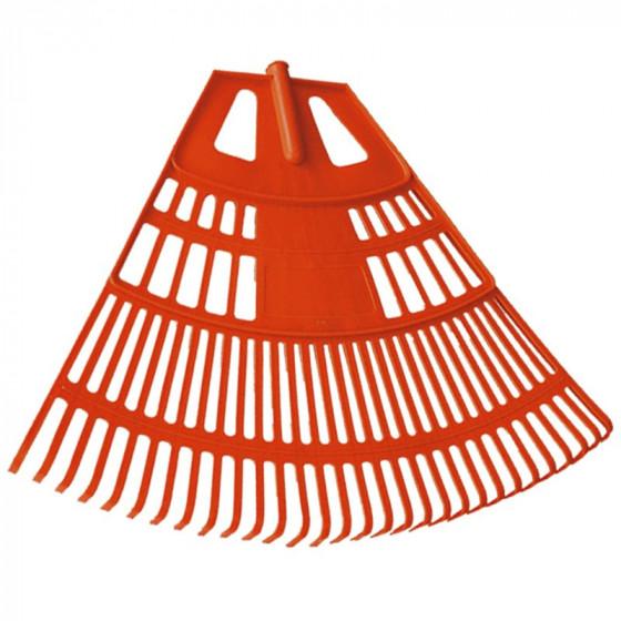 Lombseprű műanyag, 75 cm íves narancssárga - MUTA
