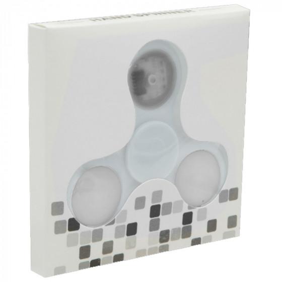 Fidget Spinner - LED-es pörgettyű - Fehér