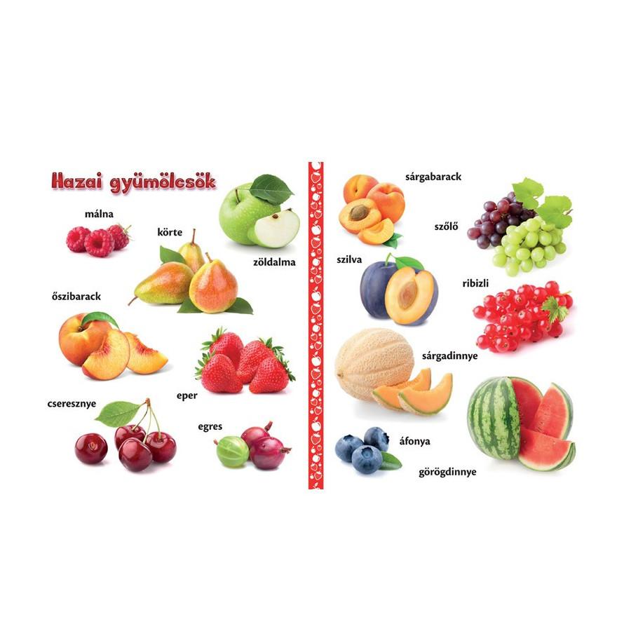 Gyümölcsök vidám képes lapozgató