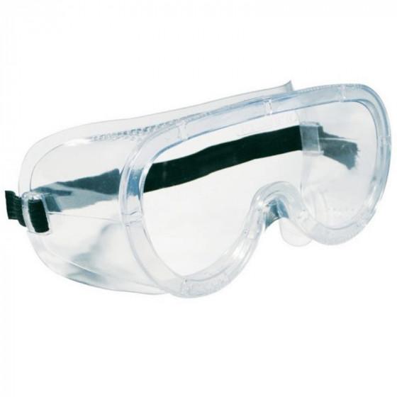 Univerzális gumipántos védőszemüveg, víztiszta lencsével