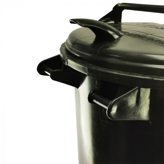 Háztartási kuka 50L-es, szürke, műanyag - [TM]