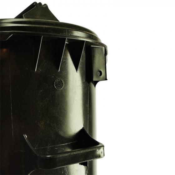 Háztartási kuka 50L-es, műanyag, szürke - [TM]