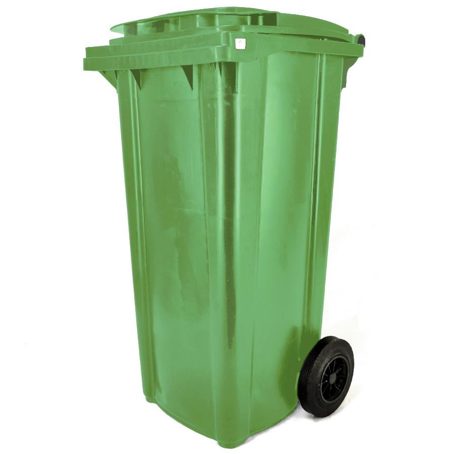 Háztartási kuka 120L-es, zöld, kerekes, műanyag, premium - [TM]